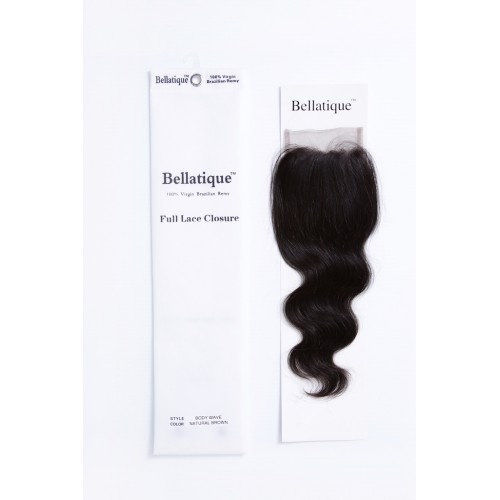 "BELLATIQUE 4X4 CLOSURE BODY WAVE 12""-20"""