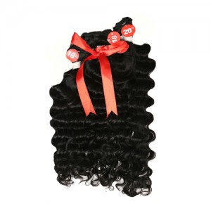Queen Hair Brazilian Remy Human Hair Weave 3Bundles Deep Wave