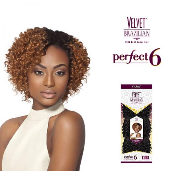 Outre Velvet Brazilian 100 Remi Human Hair Perfect 6 Deep 6 Pcs