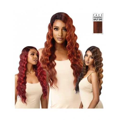 Outre Color Bomb Synthetic Swiss Lace Front Wig  OLINA
