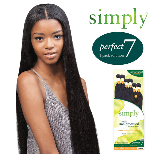 Outre Simply Non Processed Brazilian Human Hair Weave Perfect 7